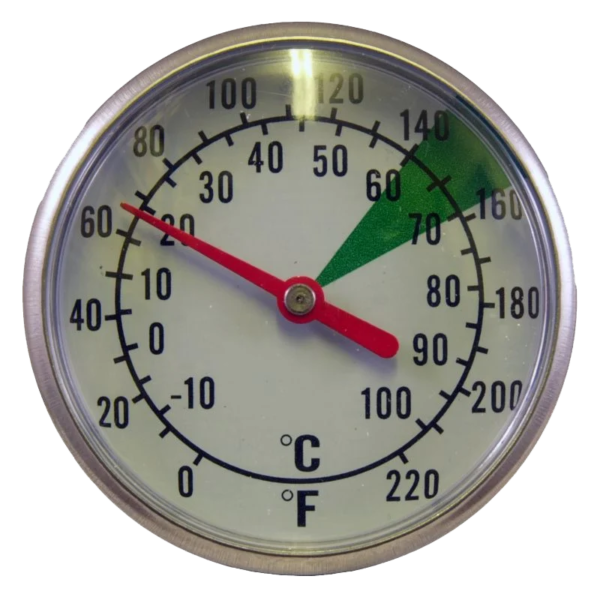 dual dial frothing thermometer thumb